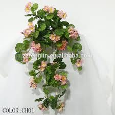 wall hanging artificial silk geranium flowers factory cheap