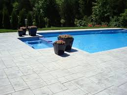 stamped concrete pool patio. Slate Grey Concrete Stamp Stamped Pool Patio P