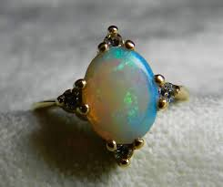 opal ring 14k opal enement ring antique australian opal diamond ring october birthday libra unique vine enement rings opal jewelry