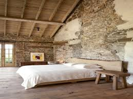 Small Rustic Bedroom Brick Wall Inside House Rustic Bedroom Designs With Stone Walls