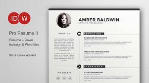 Illustrator Resume Templates Gorgeous Illustrator Resume Template Adobe Resume Template Adobe Illustrator