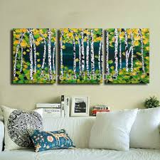 get quotations hand painted abstract paintings of trees 3 piece canvas wall art home decor modern oil picture on 3 piece wall art set with cheap 3 piece wall art set find 3 piece wall art set deals on line