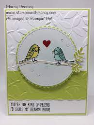 Stampin' With Marcy | Bird Banter #WWYS161 | Stamped cards, Hand stamped  cards, Anniversary cards