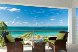 Ocean Wallpaper For Bedroom Beachfront Villa Vacation Rentals In Turks And Caicos Islands From