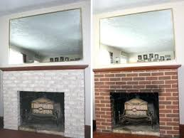 whitewash stone fireplace art and gardens painted