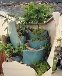 broken pot fairy garden 10
