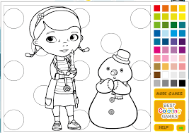 Play Doc Mcstuffins Coloring Pages Games Kidonlinegamecom