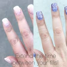 did you know that you can extend your refill on your acrylic nails just put some color street on and you are good for another 2 weeks i love how versatil