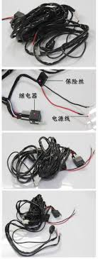 online buy whole wiring harness automobile from wiring 1x high power led lamp relay line group automobile roof auxiliary fog lamp controller wiring harness