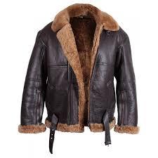 men s aviator real shearling sheepskin leather er flying jacket