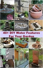 40 creative diy water features for your garden