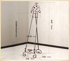 fashion wrought iron painting frame floor display stand easel with picture bracket wedding specials in easels wrought iron full size bed frame