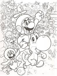 Super Mario Bros Coloring Pages Free