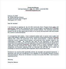 Cover Letter For Intership 13 Cover Letter For Internship Template