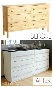 Small Picture IKEA TARVA Transformed Into a Kitchen Sideboard All Things GD