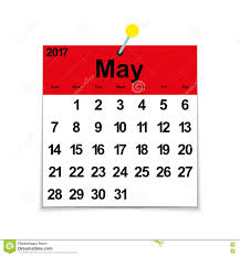 calendar for the month of may leaf calendar 2017 with the month of may stock vector image