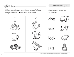 Teach kids to read with fun phonics activities, phonics videos, phonics worksheets, phonics games online, learn to read, reading activities, preschool reading activities, print awareness, phonemic awareness, letters of the alphabet they will also learn the soft c and g sounds. Final Consonants G K Phonics Learning Mats Printable Skills Sheets