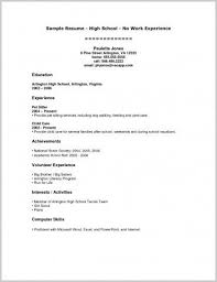 Samples Of Resumes For Highschool Students Resume Examples For Highschool Students Resumes Cv High School With