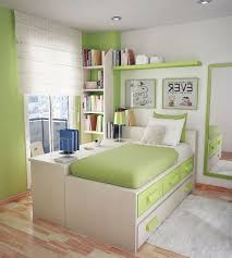 sweet decorating space saving office furniture. Perfect Paint Colors For Small Bedrooms With Soft Color Combination: Sweet Green Teens Wall Mirror Learning Desk Decorating Space Saving Office Furniture