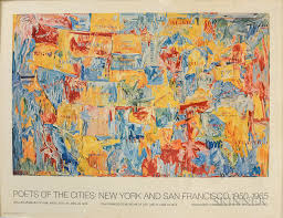 jasper johns american b 1930 poets of the cities new york and san francisco 1950 1965 map 1