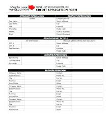 Wholesale Credit Application Template Credit Wholesale Account