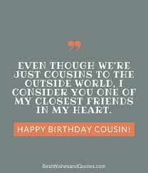 Happy Birthday Cousin Quotes Gorgeous Happy Birthday Cousin 48 Ways To Wish Your Cousin A Super Birthday