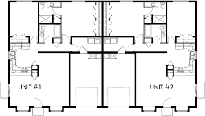 Main Floor Plan For D One Story Duplex House Plans