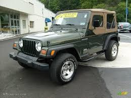 1997 Moss Green Pearl Jeep Wrangler Se 4x4 15812955 Gtcarlot