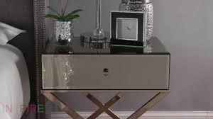 Inspire Q Genoa Mirrored Campaign Table - Overstock.com