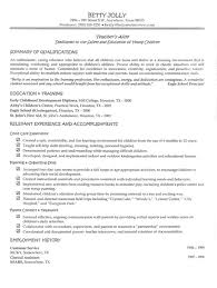 Resume Examples For Teachers With No Experience Examples Of Resumes
