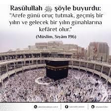 """Hadis Deryası on Twitter: """"Rasûlullah ﷺ şöyle buyurdu: """"Arefe günü oruç  tutmak, geçmiş bir yılın ve gelecek bir yılın günahlarına kefâret olur.""""  (Müslim, Sıyâm 196)… https://t.co/b9MdcLzzDk"""""""