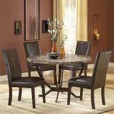 hilale furniture monaco matte espresso dining set with round table