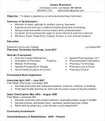 Pharmacist Resume Template Interesting Gallery Of Pharmacist Resume Samples Sample Pharmacist Resume Free