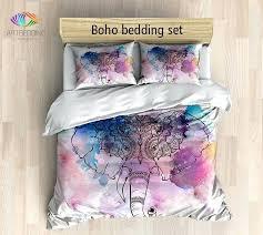 elephant bedding bohemian duvet cover set elephant watercolor bedding set incredible king size elephant print bedding