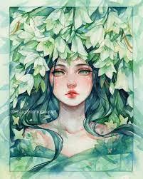 이미지: 사람 1명 이상, 식물 | Nhật ký nghệ thuật, Kỳ ảo, Mỹ thuật
