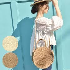 Online Shop <b>Women Woven</b> Round Rattan <b>Straw Bag</b> Bali ...
