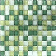 mosaic tiles glass light yellow green
