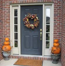 halloween door decorating ideas. Decoration: Horrible Style Of Halloween Door Decorations Ideas Using Circle Accessories Leave Also Pumkin Decorating