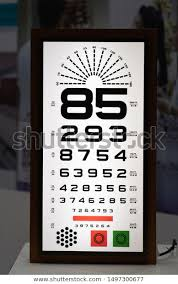 E Chart Test Eye Test Chart E Chart Vision Stock Photo Edit Now 1497300677
