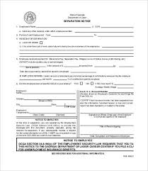 Separation Notice 8 Free Word Pdf Documents Download Free