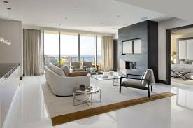 Contemporary White Tile Floor Living Room Tiles An Elegant Carpet Curtains Intended Ideas