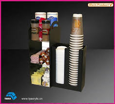 Coffee Cup Display Stands Acrylic Coffee Cup Display Stand Plastic Cup Mug Storage Bins 2