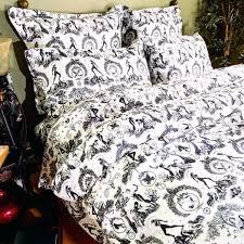 fresco duvet cover black toile bedding and cream bedspread white