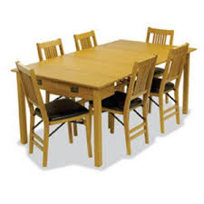 trendy design mission style dining room sets craftsman kitchen and table hayneedle stakmore expanding set oak used ct by leick