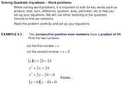 equation word problems solving quadratic equations word problems 2 step equations word problems ppt