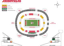 Chiefs Arrowhead Stadium Seating Chart Arrowhead Seating Map Rams Seating Chart With Seat Numbers