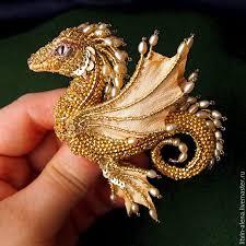 golden dragon brooches handmade livemaster handmade brooch dragon margo