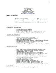 College Freshman Resume Simple Academic Resume Template For College College Freshman Resume