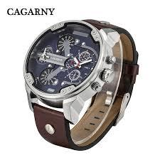 popular luxury brand watch for men sport watches cagarni buy cheap mens watches top brand luxury quartz watch men leather strap casual sport watch military clock men