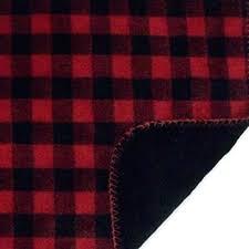 buffalo check area rug navy red black fleece